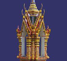 Thailand-Shrine at Wat Nuan Naram- Samui by DAdeSimone