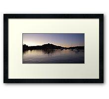 Dusk on Terranora Inlet Framed Print