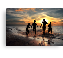 Feel Free #3 - Togetherness and friendship Canvas Print