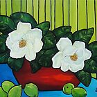 Magnolia Twins   SOLD by Deborah Glasgow