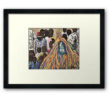 Burkina Faso Mask Dance Framed Print