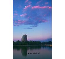 Moon Over City Park Photographic Print