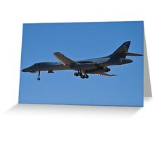 Rear shot of the B1-B Lancer Bomber Greeting Card