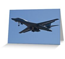 B1-B Lancer Bomber Greeting Card