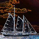 Sailing ship abstract photography by Vitaliy Gonikman