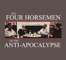 The Four Horsemen of the Anti-Apocalypse (white text)  by Groatsworth