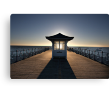 Halo - View of Swanage Pier Dorset Canvas Print