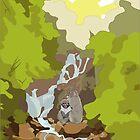 Waterfall Monkeys by Toon-Alchemist