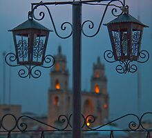 Twilight. Cathedral. Merida. Mexico by vadim19