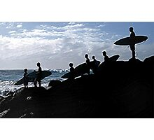 SURFERS LINEUP Photographic Print
