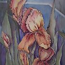 Iris broken yet uplifted by Ellen Keagy