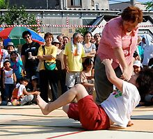 Sumo Tournament in downtown (2) ,  OSAKA   JAPAN by yoshiaki nagashima