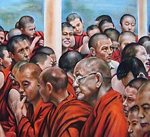 42 monks together by Hidemi Tada