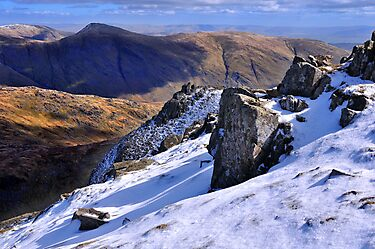 Ill Bell from Red Screes - The Lake District by Dave Lawrance
