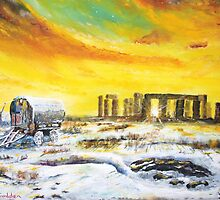 Stonehenge in the winter of 47. by Joe Trodden