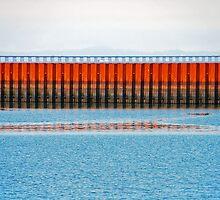 Sea Wall in Astoria by Jennifer Hulbert-Hortman