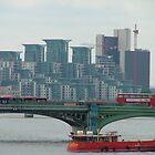 Hungerford Bridge - View of St. Georges Wharf - London, UK by ArtsGirl2