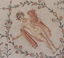 Lady of fragments - Ancient mosaic in Tunisia by Kiriel
