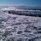 Froth at Dee Why by Janie. D