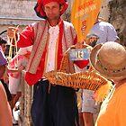 Street Vendor in Old Dubrovnik by Laurel Talabere