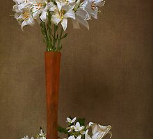 Mid-June Lilies & Mock Orange Blossoms by Leslie Nicole