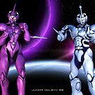 Bio-Booster Armored Guyver 1 and Female Guyver 2 by Junior Mclean