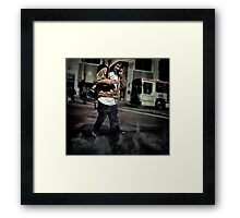 Intersection  Wild fire ! Framed Print