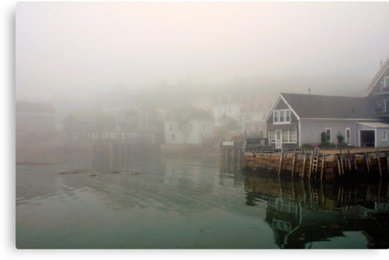 Fog, Stonington Harbor, Maine by fauselr