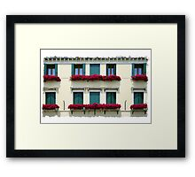 Window Boxes Framed Print