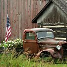 1934 Ford Pickup Displaying American Pride by Barberelli