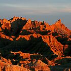 Badlands Sunset Peaks by John Carpenter
