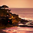 Sunset at Tanah Lot by Angie Muccillo