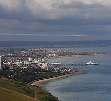 Eastbourne with the Red Arrows by Shane Ransom