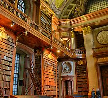 old library, HDR, vienna by parafux