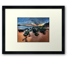Love On The Rocks - Warriewood Beach, Sydney (35 Exposure HDR Panorama- The HDR Experience Framed Print
