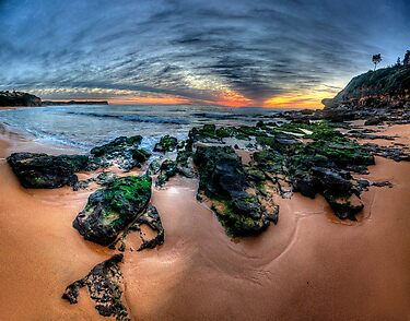 Love On The Rocks - Warriewood Beach, Sydney (35 Exposure HDR Panorama- The HDR Experience by Philip Johnson