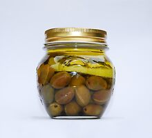 Jar of Home Made Lemon Olives  by jojobob