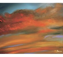 Old Orchard Beach Sunset. Acrylic Painting. Photographic Print