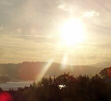 Sunrise over the Columbia River #18 by Dawna Morton