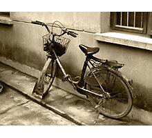 Chinese Bike Photographic Print