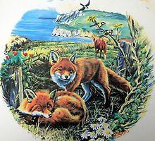 Foxes on the Isle of White. by Robert David Gellion