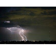 Lightning Chicken in the Sky  Photographic Print