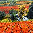 Vineyards in Autumn by Pieta Pieterse