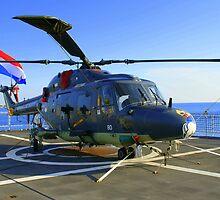 Chopper on deck..... by Dirk van Laar