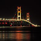 Mackinaw Bridge 2(color) by Sandra Guzman