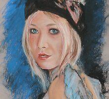 girl in blue by Almeta