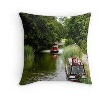 The Grand Union Canal Throw Pillow