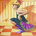 Chicken Dance, oil on canvas, 2004. by fiona vermeeren