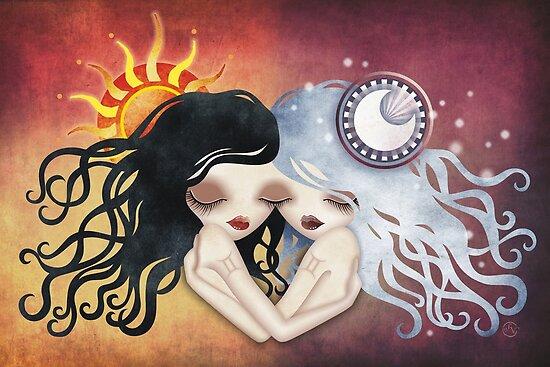 Emma & Gemma (Gemini) ~ Zodiac Series by sandygrafik