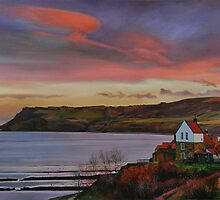 Dusk at Robin Hoods Bay by Graham Clark